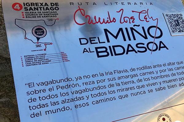 """Ruta literaria de Camilo José Cela. """"Del Miño al Bidasoa"""""""