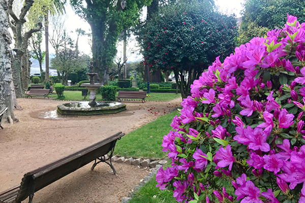 Artistic botanical garden of Padrón