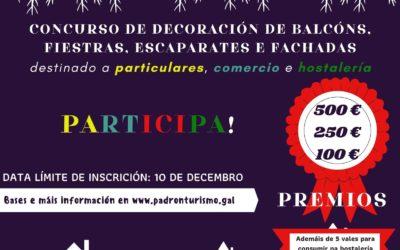 Concurso de decoración de balcóns, fiestras, escaparates e fachadas 'Nadal na rúa'