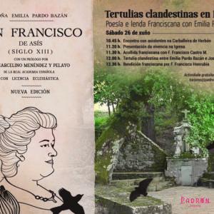 Tertulias clandestinas en Herbón: Poesía e lenda Franciscana con Emilia Pardo Bazán en Padrón