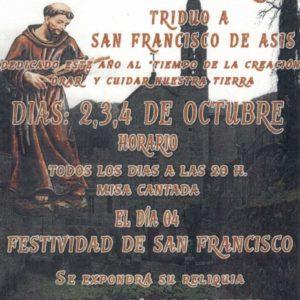 Triduo a San Francisco de Asís
